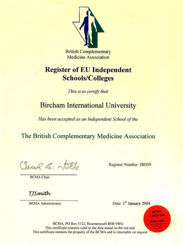 BCMA - The British Complementary Medicine Association