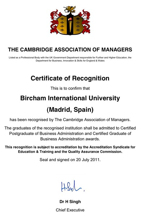 CAM - The Cambridge Association of Managers