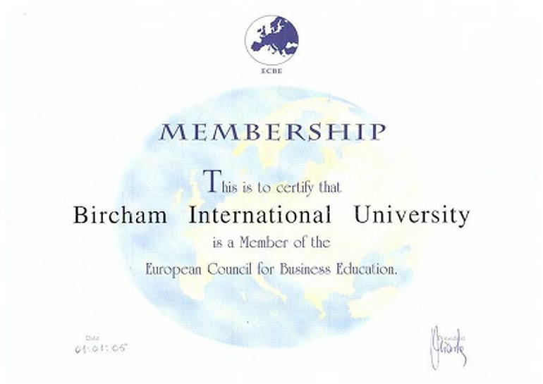 ECBE - European Council for Business Education