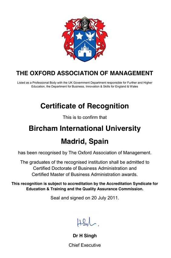 OAM - The Oxford Association of Managers